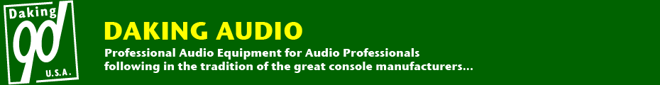 Daking Audio : Professional Audio Equipment for Audio Professionals